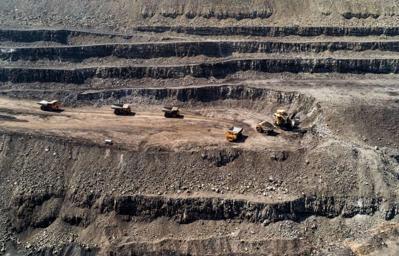 Залегание угля